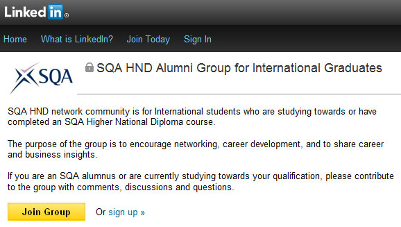 SQA LinkedIn Alumni Group image